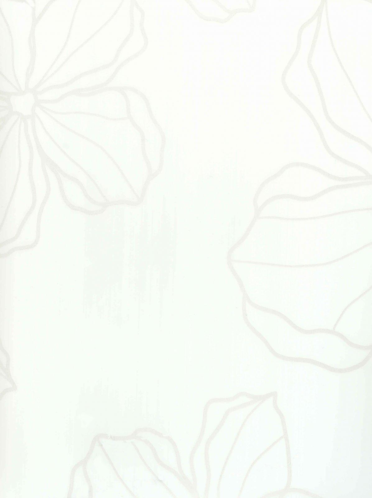 Пленка ПВХ Лотос белый глянец